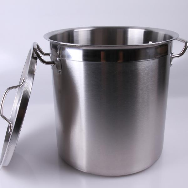 商用高档不锈钢复底汤桶汤锅