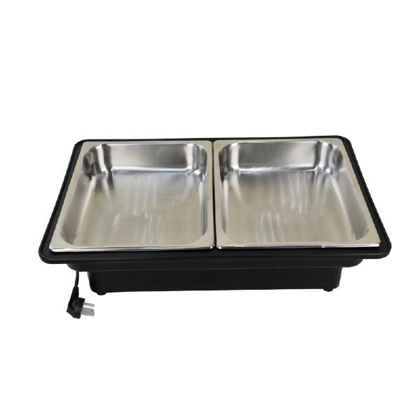 新力士酒店餐具x85887-7长方形双汤桶自助餐汤炉布菲